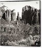 Vintage Cathedral Rock Acrylic Print by John Rizzuto