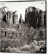 Vintage Cathedral Rock Acrylic Print