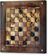 Vintage Checkers Game Acrylic Print