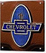 Vintage Chevrolet Emblem Acrylic Print