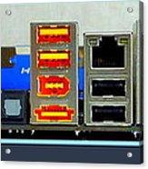 Vintage Circuit Board Connectors Acrylic Print