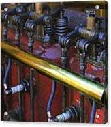 Vintage Combustion Engine Acrylic Print by Scott Hovind