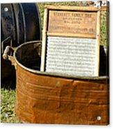 Vintage Copper Wash Tub Acrylic Print by LeeAnn McLaneGoetz McLaneGoetzStudioLLCcom