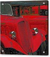Vintage Fire Truck Techno Art Acrylic Print
