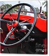 Vintage Ford - Steering Wheel... Controls - Circa 1920s Acrylic Print by Kaye Menner