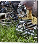 Vintage Frazer Auto Wreck Front Ends Acrylic Print