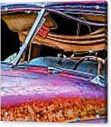 Vintage Frazer Front Window Auto Wreck Acrylic Print