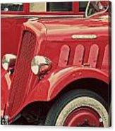 Vintage French Delahaye Fire Truck  Acrylic Print