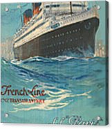 Vintage French Line Travel Poster Acrylic Print