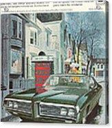 Vintage Gm Pontiac Acrylic Print