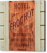 Vintage Hotel Sign 3 Acrylic Print
