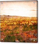 Vintage  Landscape Florence Italy Acrylic Print