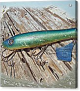 Vintage Lido Flaptail Saltwater Fishing Lure Acrylic Print