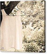Vintage Linen Cami Acrylic Print