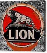 Vintage Lion Oil Sign Acrylic Print