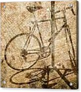 Vintage Looking Bicycle On Brick Pavement Acrylic Print