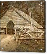 Vintage Looking Old Barn In The Great Smokey Mountains Acrylic Print