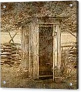 Vintage Looking Old Outhouse In The Great Smokey Mountains Acrylic Print