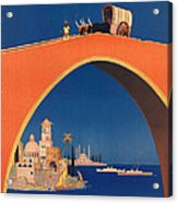 Vintage Mediterranean Travel Poster Acrylic Print
