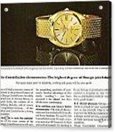 Vintage Omega Watch Acrylic Print
