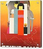 Vintage Oriental Tourist Conference Poster Acrylic Print