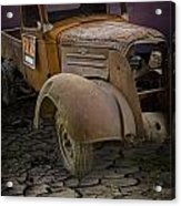 Vintage Pickup On Parched Earth Acrylic Print