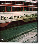 Vintage Pittsburgh Trolly Acrylic Print