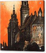 Vintage Poland Travel Poster Acrylic Print