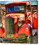Vintage Red Dodge Acrylic Print