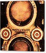 Vintage Rolleiflex Camera . Long Cut . 7d13357 Acrylic Print