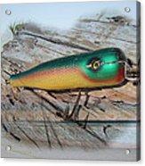 Vintage Saltwater Fishing Lure - Masterlure Rocket Acrylic Print