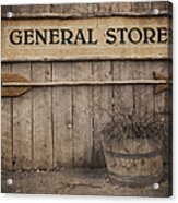 Vintage Sign General Store Acrylic Print by Jane Rix