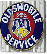 Vintage Sign Oldsmobile Service Acrylic Print