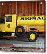 Vintage Signal Gasoline Truck . 7d12935 Acrylic Print