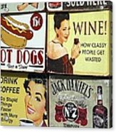 Vintage Signs Acrylic Print