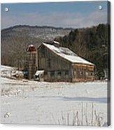 Vintage Weathered Wooden Barn Acrylic Print