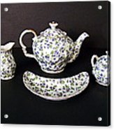 Viola Teapot With Creamer And Sugar Bowl Acrylic Print