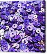Violet Beads And Sequins Acrylic Print