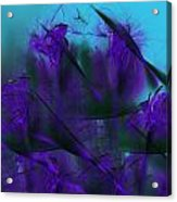 Violet Growth Acrylic Print