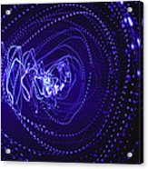 Violet Neon Lights 2 Acrylic Print
