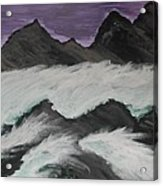 Violet Raging Waters Acrylic Print