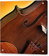 Violin Isolated On Gold Acrylic Print