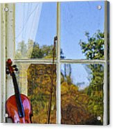 Violin On A Window Sill Acrylic Print