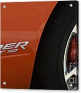 Viper Srt 10 Emblem And Wheel Acrylic Print