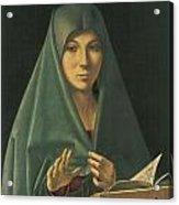 Virgin Annunciate Acrylic Print by Antonello Da Messina