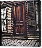 Virginia City Ghost Town Door I Acrylic Print