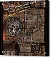 Virginia City Nevada Grunge Poster Acrylic Print