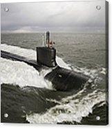 Virginia-class Attack Submarine Acrylic Print by Stocktrek Images