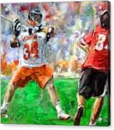College Lacrosse 10 Acrylic Print