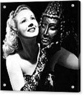 Virginia Mayo, Ca. Early 1940s Acrylic Print